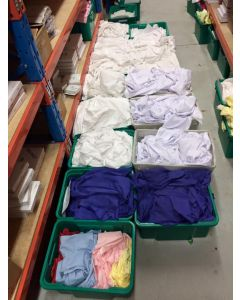 1kg WHITE Suedecloth Odds & Ends