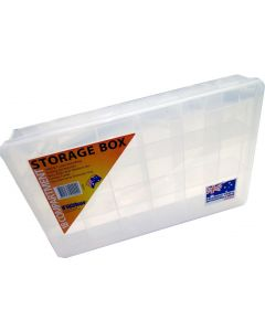 Fischer Plastics 18 Compartment Storage Box